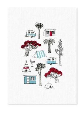 Tea Towel - Camping