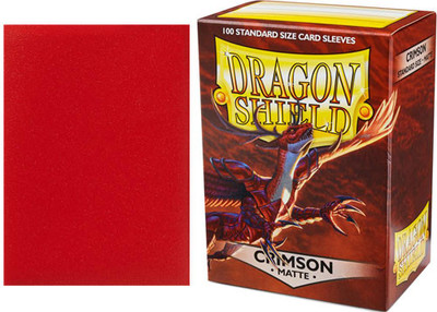 Dragon Shield Box 100 Crimson Matte Sleeves