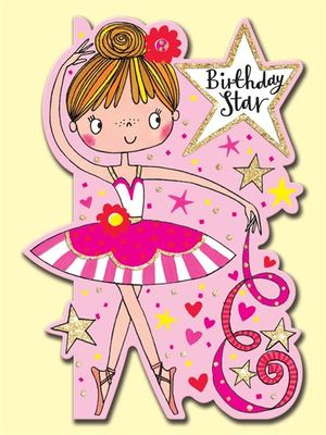 Card - Birthday Star Ballerina DAR3