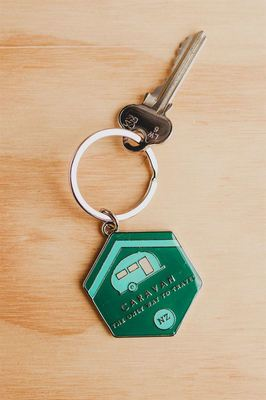 Enamel Key Ring - Caravan