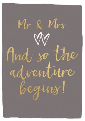 Card - MR & Mrs 7PIA450