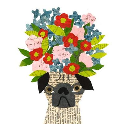 Card - Pug in Hat DF1635