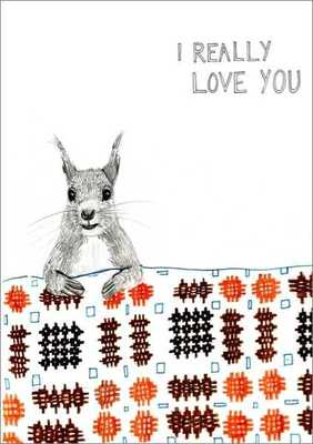 Card - Squirrel I Really Love You DPC014