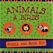 PUZZLE AND BOOK KIT ANIMALS