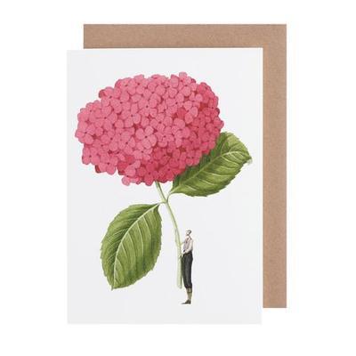 Blank Card Pink Hydrangea - GC015 (51-00005)