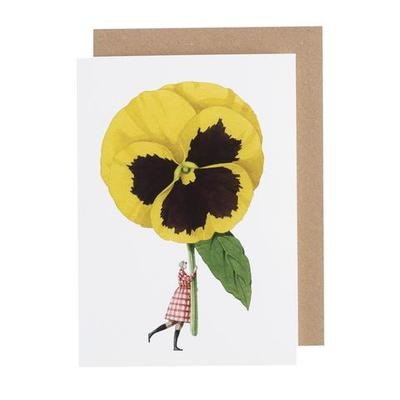 Blank Card Pansy - GC017 (51-00007)