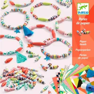 DJECO - Craft Kit - Paper beads to create