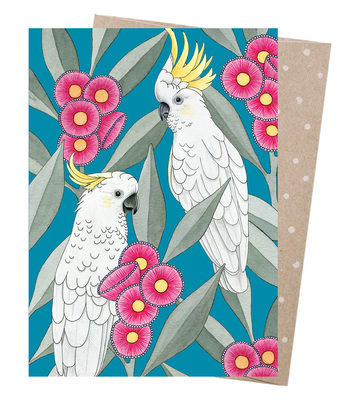 Card - Silver Gum Cockatoos