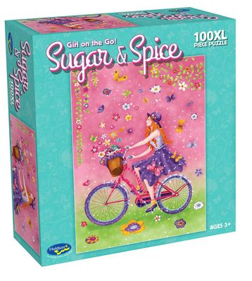 100pc Sugar & Spice Girl on the Go 100 XL pc Puzzle