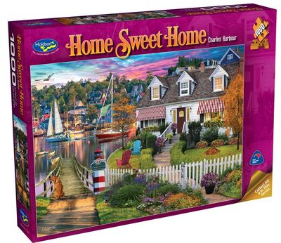 Large 0008604 holdson puzzle home sweet home s2 1000pc charles harbour