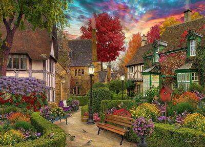Home Sweey Home 2 English Garden  Puzzle 1000pc