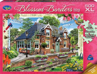 Blossom Borders Railway Cottages Puzzle 500PC