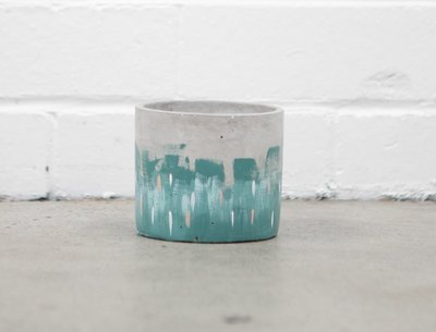 "Jak & Co Pot Small ""Rain"" in Teal"