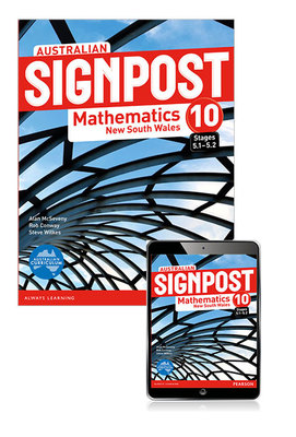 Australian Signpost Mathematics New South Wales 10 (5. 1-5. 2) Student Book with EBook