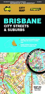 Brisbane City Streets and Suburbs Map 462 9th Ed (waterproof)