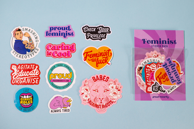 Sticker Pack - Feminist (Proud Minority)
