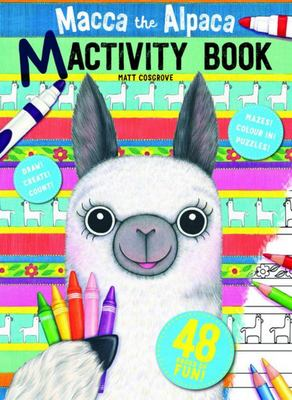 Macca the Alpaca 48 Page Colouring and Activity Book