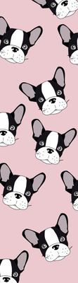 Tasseled Bookmark Pink Frenchie
