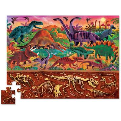 Dinosaur World (Above + Below) 48pc Floor Jigsaw Puzzle