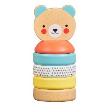 Happy Bear Wooden Stacker