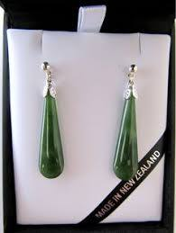 mana NZ greenstone drop earrings