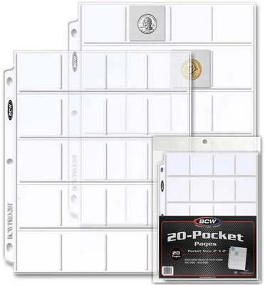 BCW: 20 Pocket Pages Coins (20 Pack)