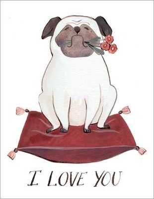 I Love You - Card - Pug Love