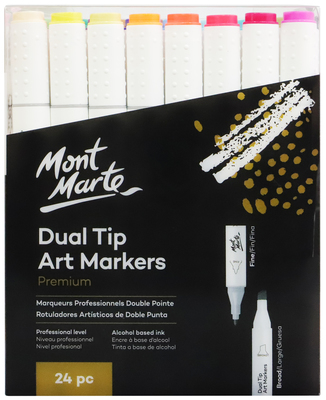 MM Dual Tip Alcohol Art Markers 24pc MMPM0028
