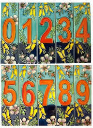 Ceramic Flower Number Tile 1