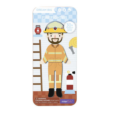 Dream Big Fire Fighter Magnetic Tin