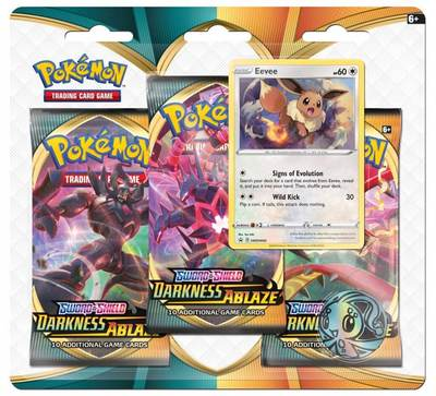 Sword and Shield- Darkness Ablaze Three Booster Blister
