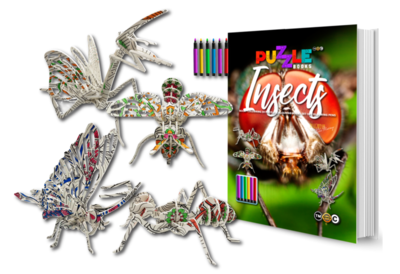 Insects (Colouring Puzzle Book & Pen Set)