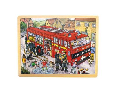 Fire Engine Wooden Tray Puzzle (24 pc)