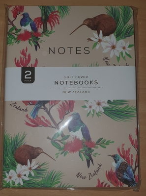 notebook soft cover flower Beige