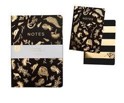 Notebook Soft Cover Blk & Gld