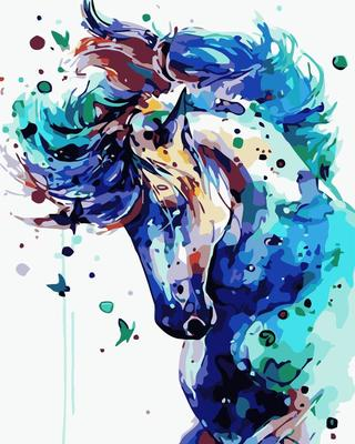 Horse DIY Paint By Numbers Canvas