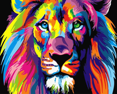 Lion DIY Paint By Numbers Canvas