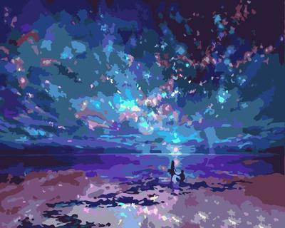 Night Sky DIY Paint By Numbers Canvas