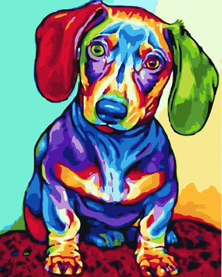 Dog DIY Paint By Numbers Canvas