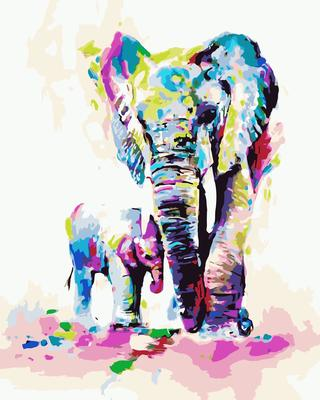 Elephant DIY Paint By Numbers Canvas