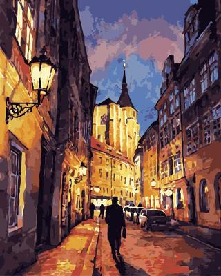 Landscape Street DIY Paint By Numbers Canvas