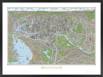 Melbourne Map Jigsaw Puzzle 1000 Pieces