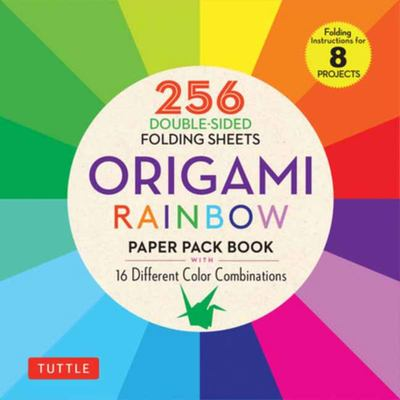 Origami Rainbow Paper Pack Book - 16 Different Color Combinations (instructions for 8 Projects)