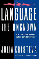 Language: the Unknown - An Initiation into Linguistics