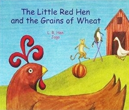 The Little Red Hen & the Grains of Wheat (Arabic & English)