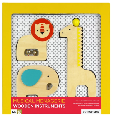 Musical Menagerie Wooden Animals