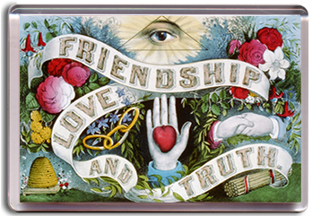 Friendship Love Truth - Magnet