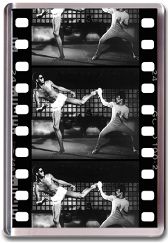 Bruce Lee Film Strip Magnet