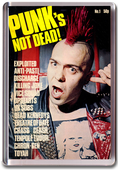 Punk Not Dead Magazine Magnet