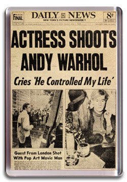 Actress Shoots Andy Warhol Fridge Magnet
